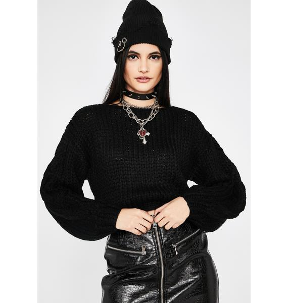 Dark Thicc N' Rich Crop Sweater