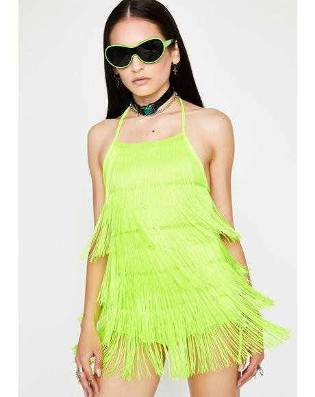 Slime Shake It Off Fringe Romper