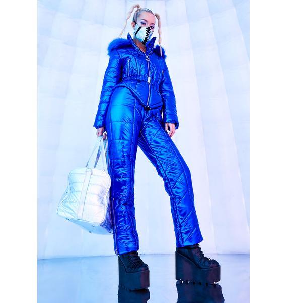 Club Exx Ambient Avalanche Metallic Snowsuit