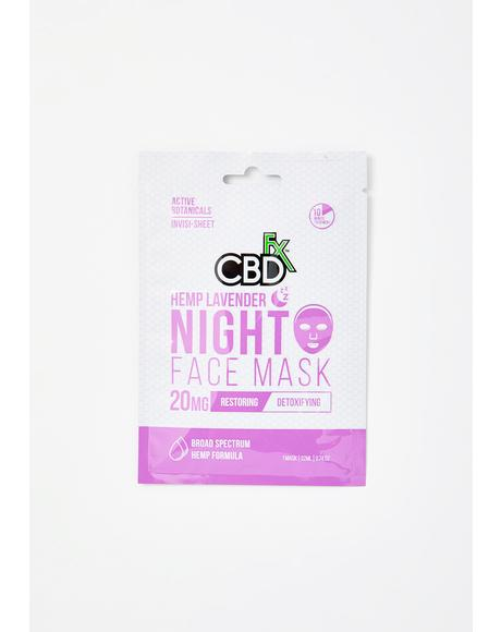 Lavender CBD Night Time Face Mask