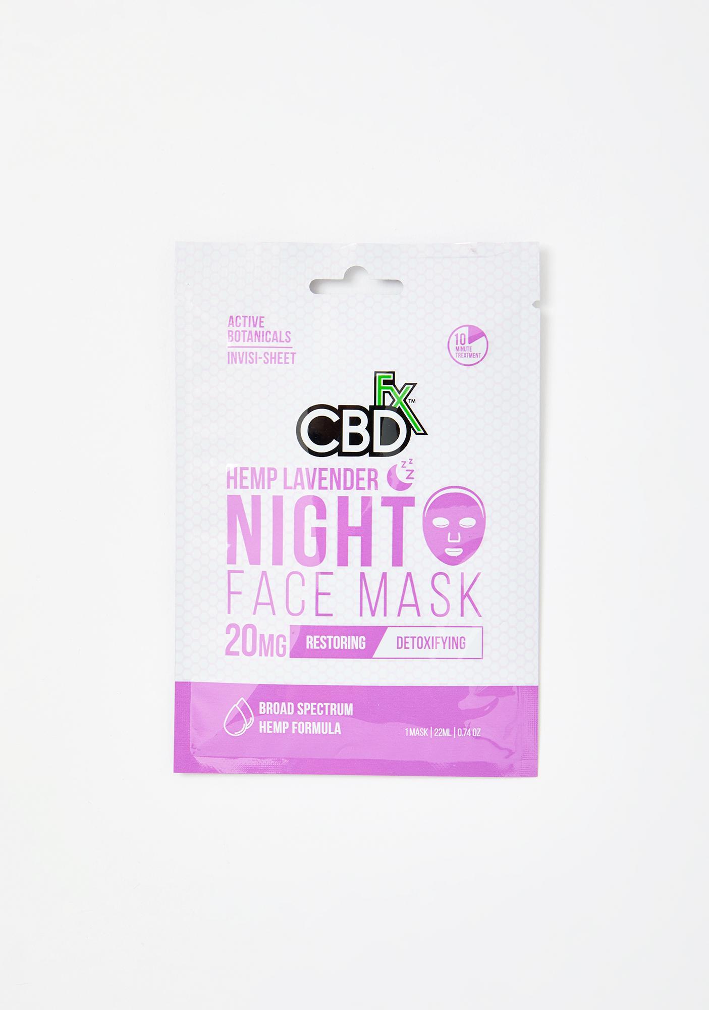 CBDfx Lavender CBD Night Time Face Mask