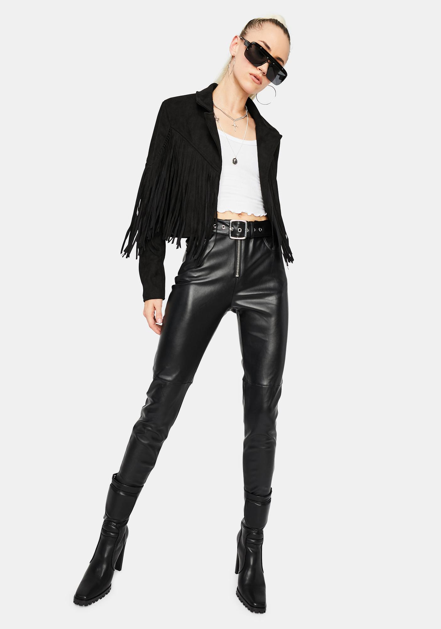 Night Live It Up Cropped Jacket