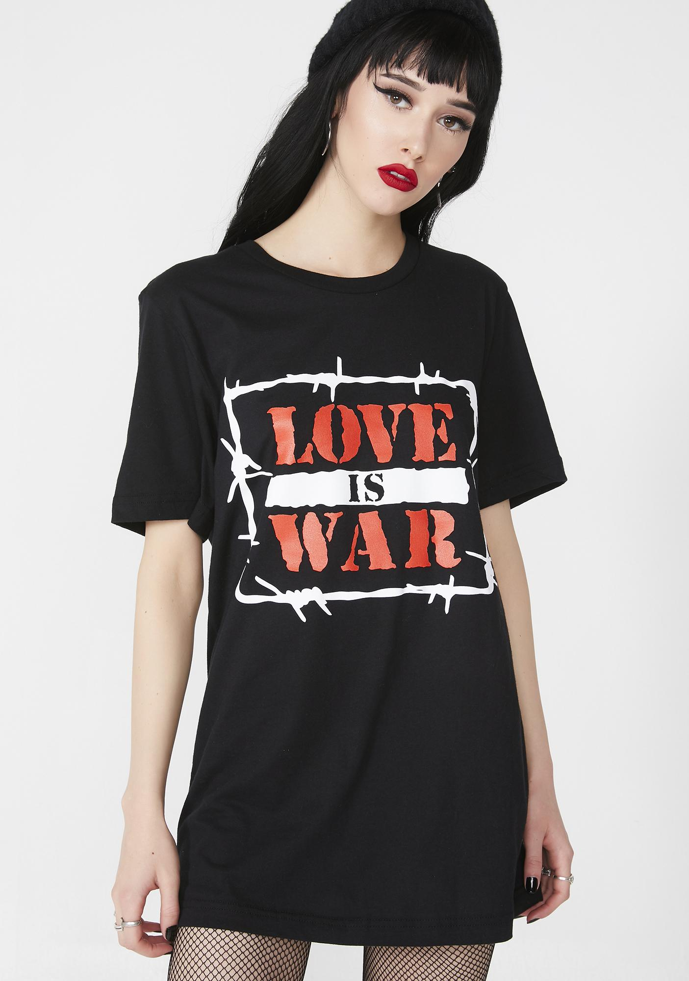 Petals and Peacocks Love Is War Tee
