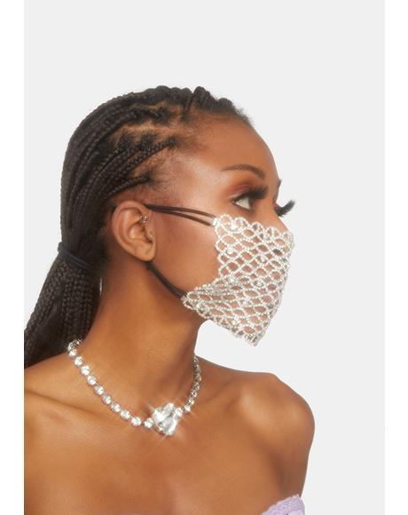 Soul Sparkle Rhinestone Mask Overlay