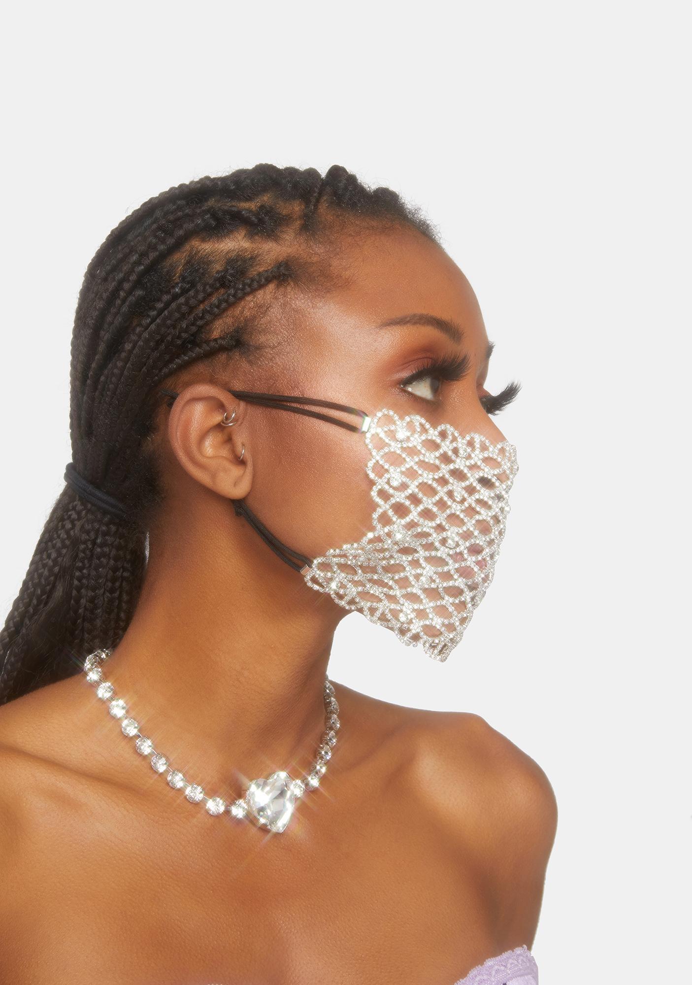 Club Exx Soul Sparkle Rhinestone Mask Overlay