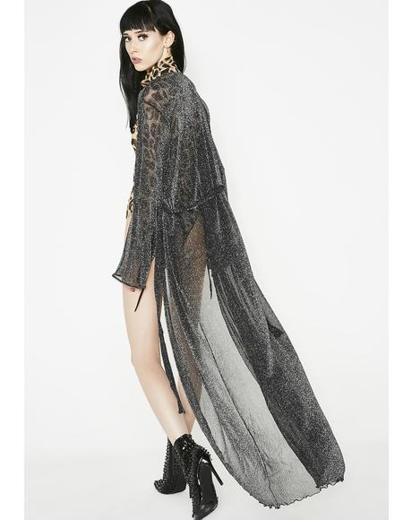 Midnight Kiss Metallic Robe