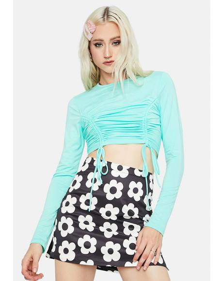 Impress Me Drawstring Crop Top