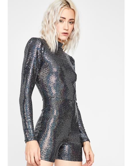 Light Dancer Sequin Romper