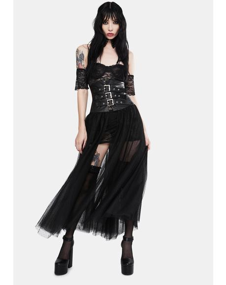 Risk It All Tulle Midi Skirt