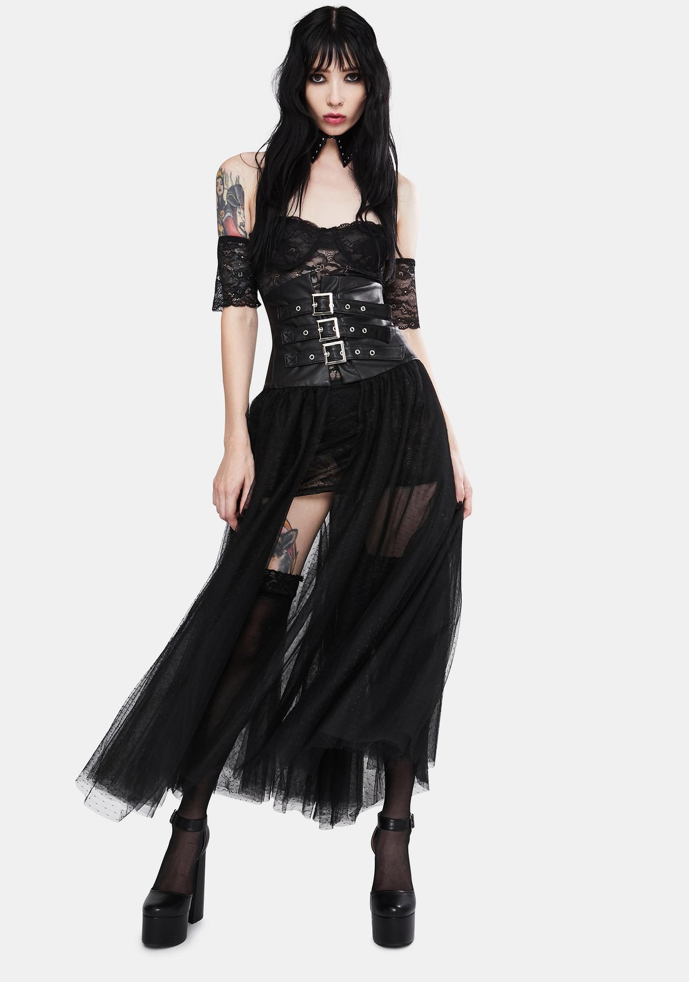 Kiki Riki Risk It All Tulle Midi Skirt