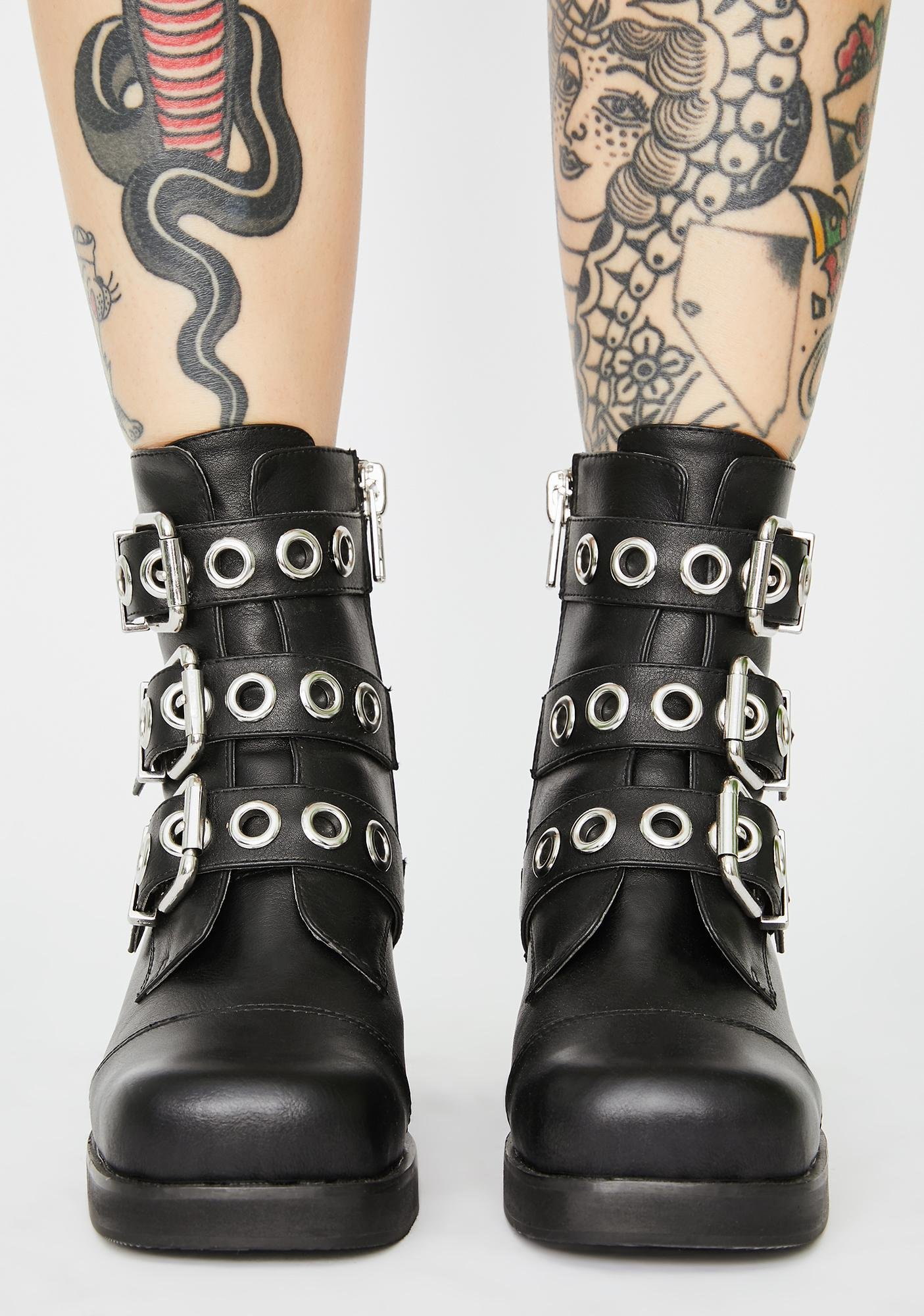 Current Mood Rebel Law Buckle Boots