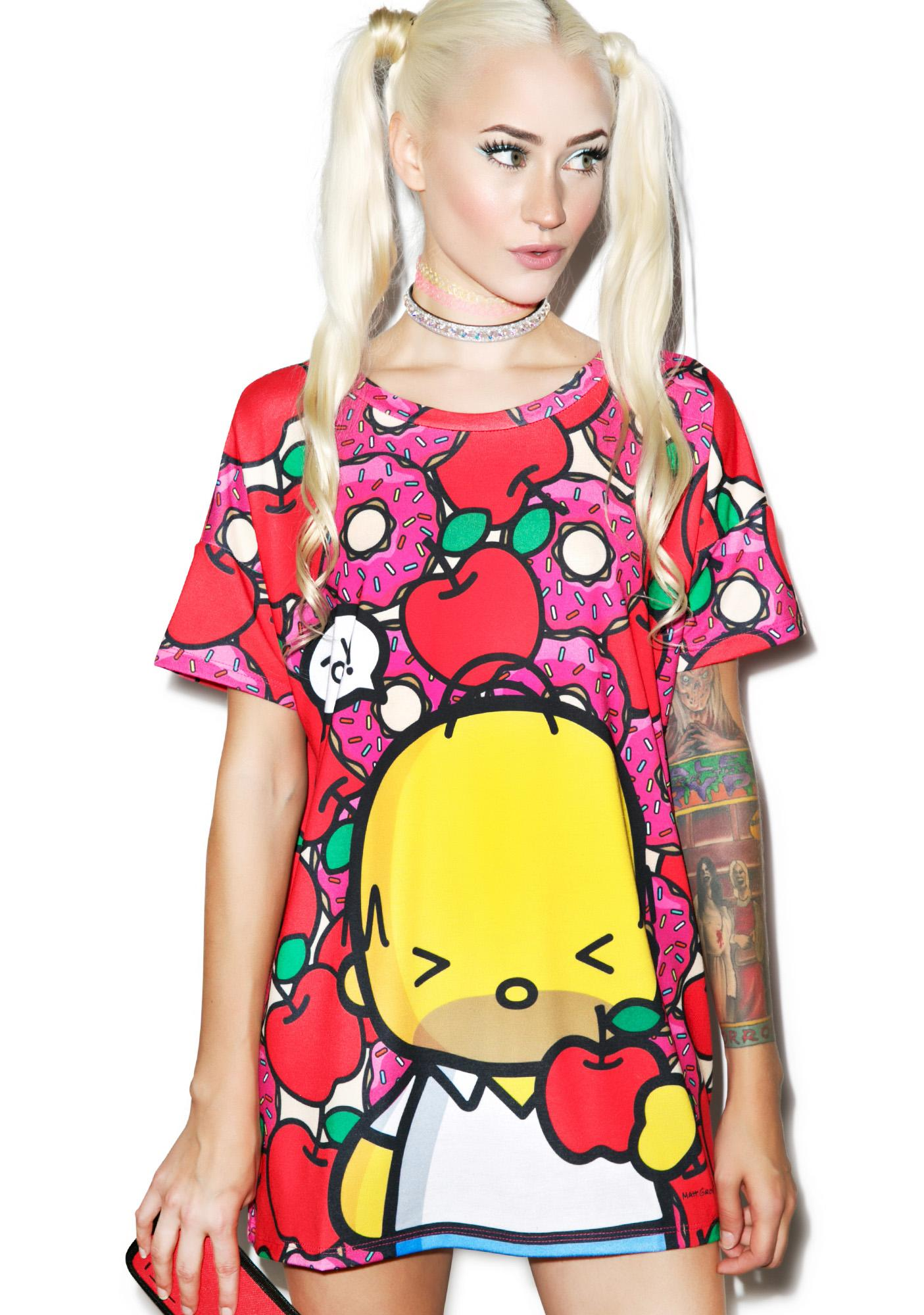Japan L.A. D'oh-Nuts & Apples Tee