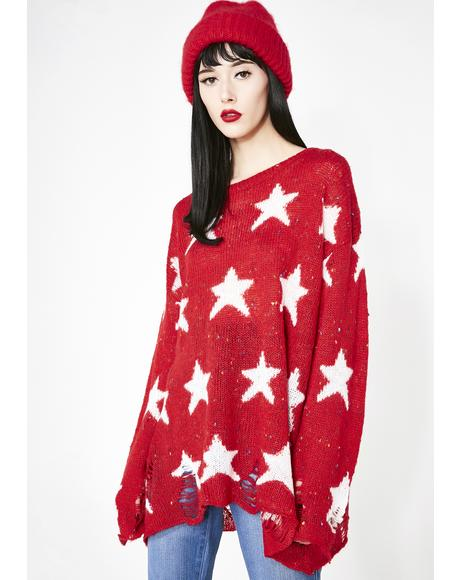 Scarlet Seeing Stars Lennon Sweater