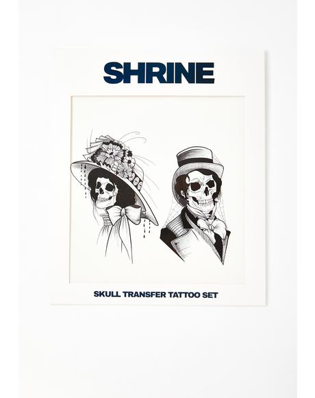 Skull Transfer Tattoo Set