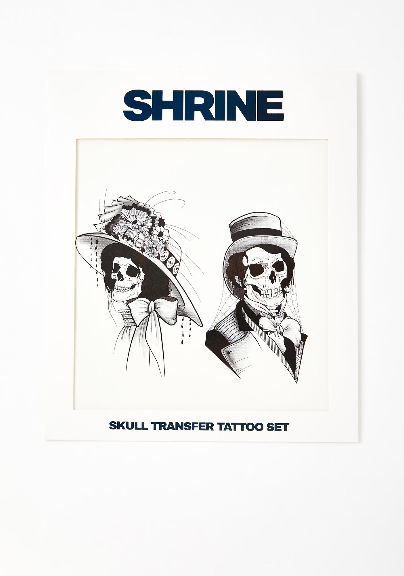 SHRINE Skull Transfer Tattoo Set
