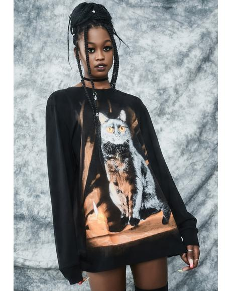 Purr Evil Oversized Graphic Tee