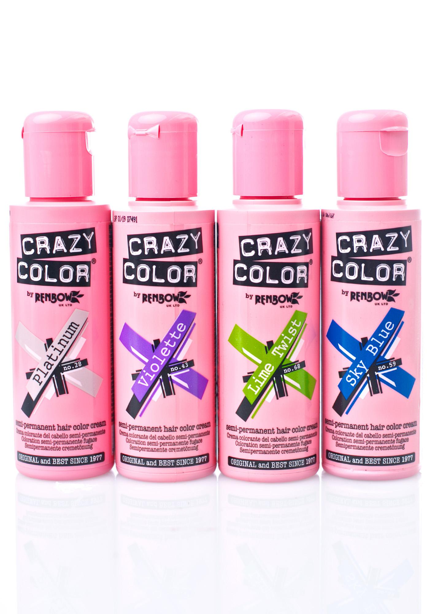 Crazy Color Platinum Hair Dye