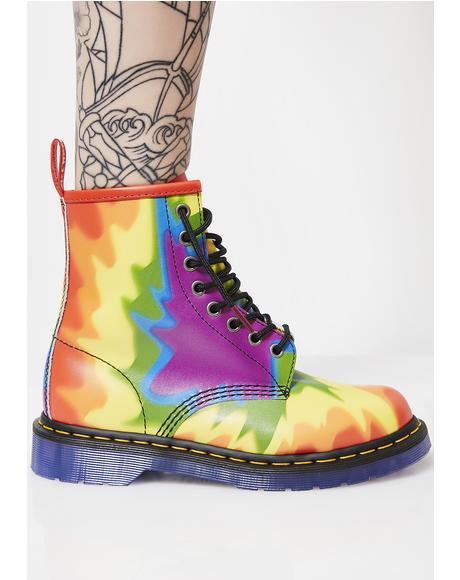 1460 Pride Tie-Dye Boots