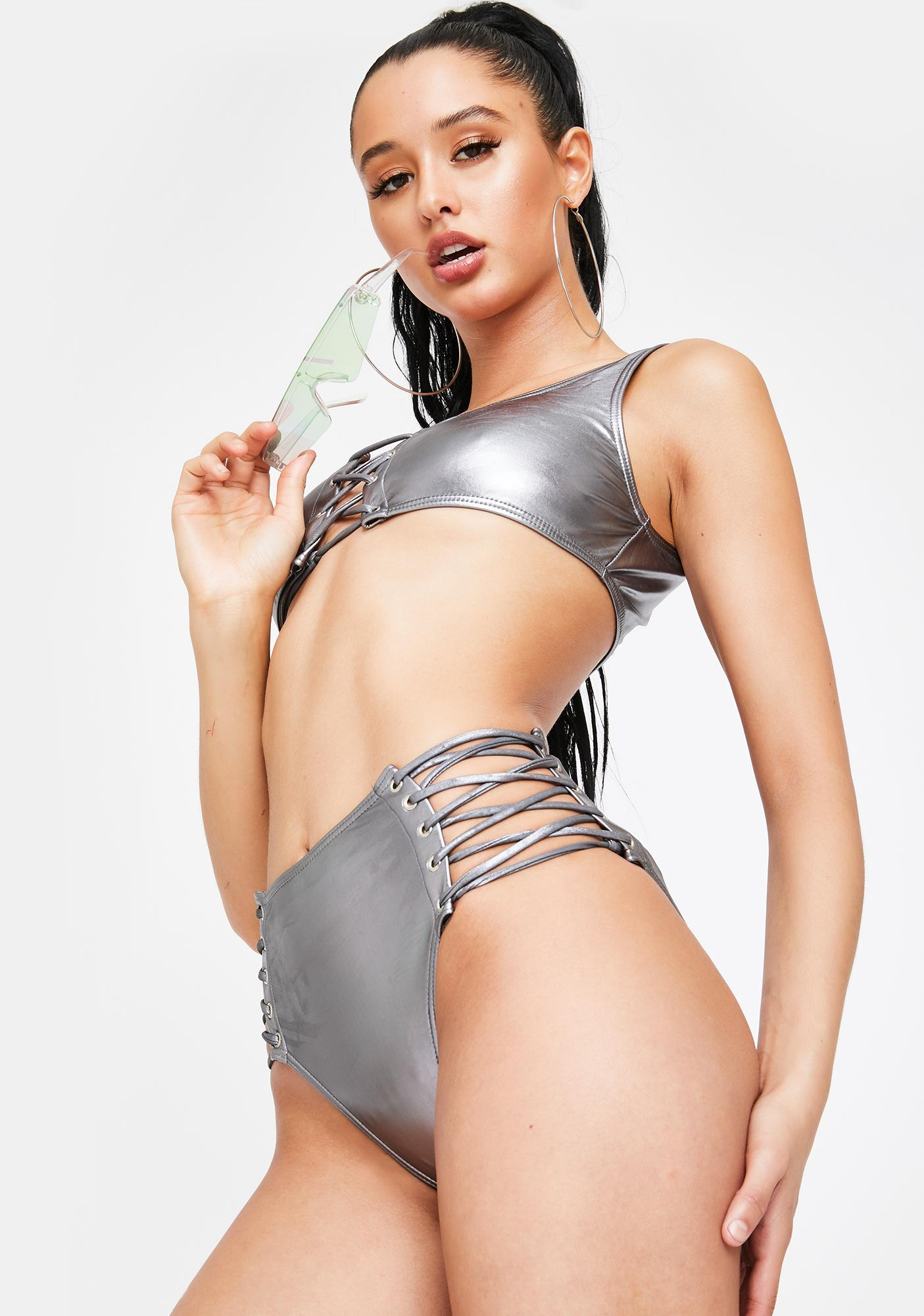 Poster Grl Foil For Good Timez Call Bikini Set