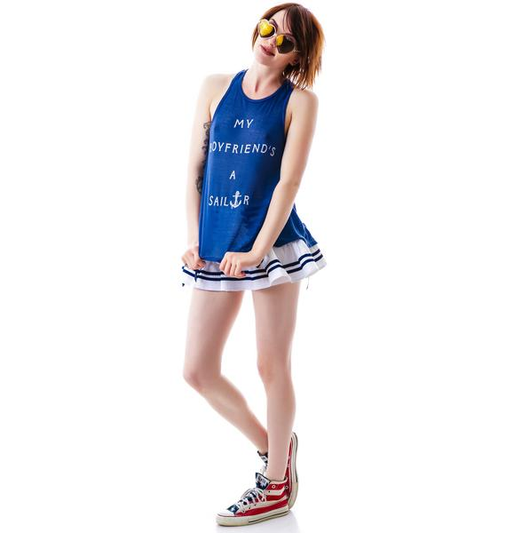 Wildfox Couture My Boyfriend's A Sailor Island Tank
