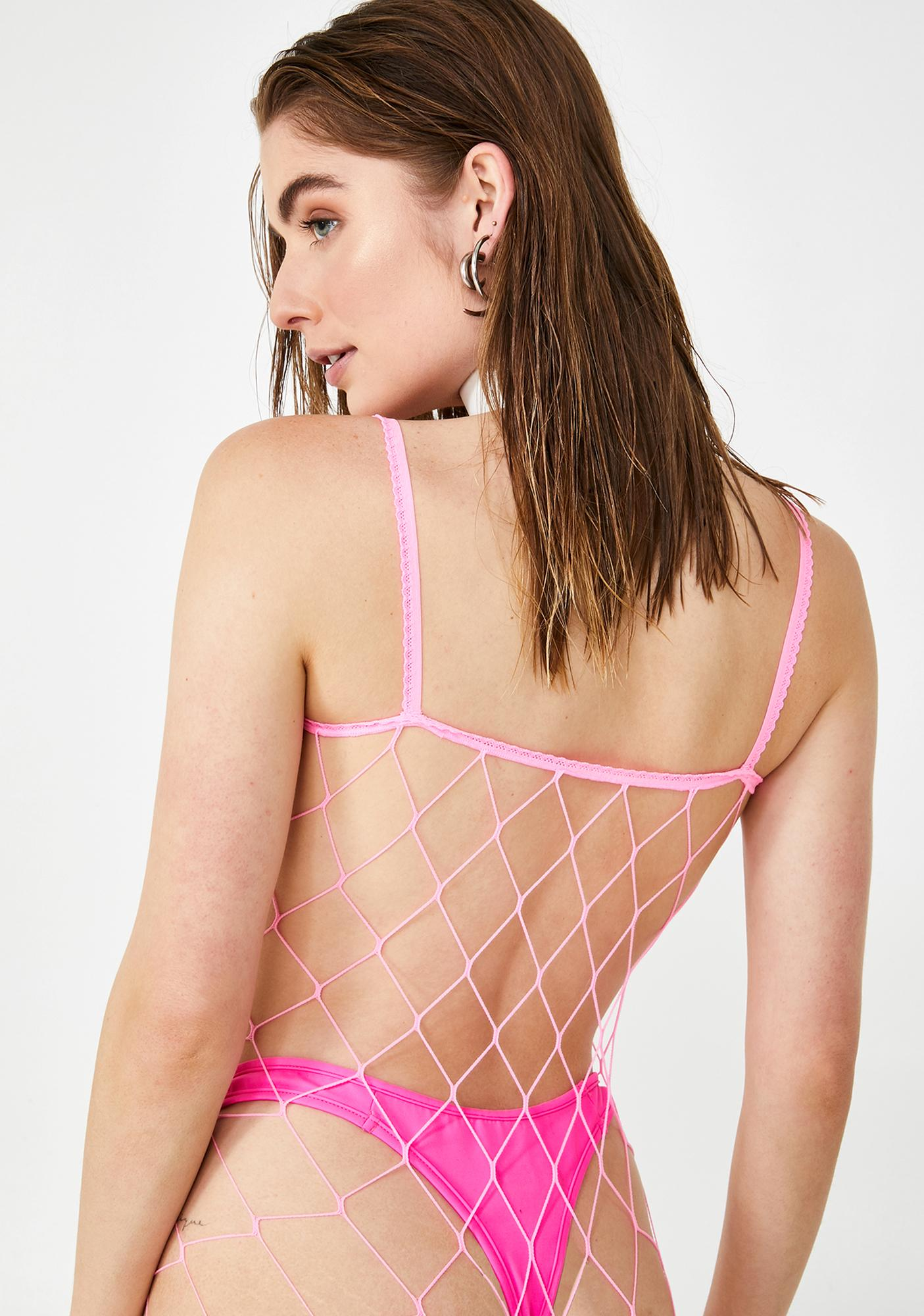 Miss Entice 'Em Fence Net Bodystocking