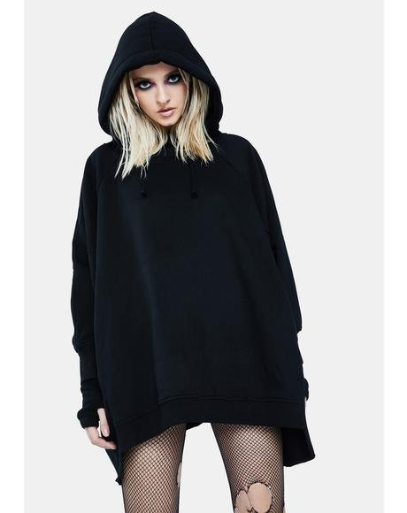 Deathly Wishes Oversized Hoodie Dress
