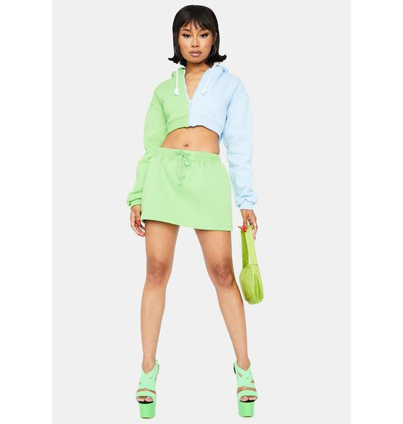 Lime True Confessions Sweat Skirt