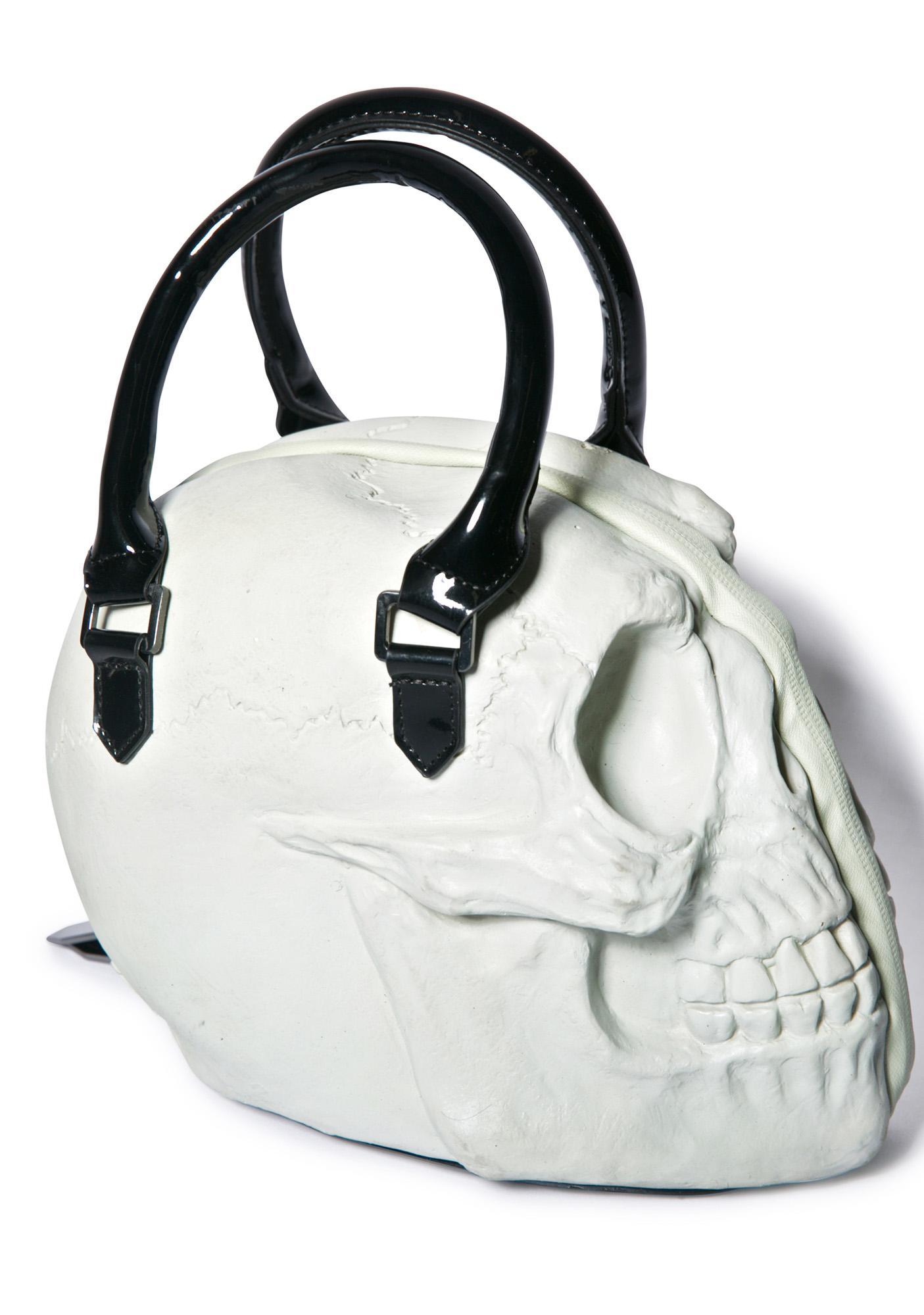 Kreepsville 666 Glow Skull Collection Hand Bag
