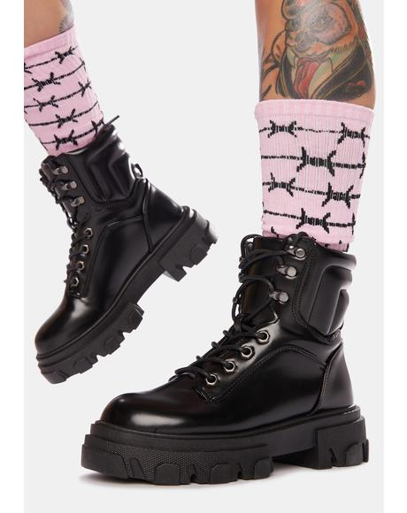 Onyx Insane Mode Combat Boots