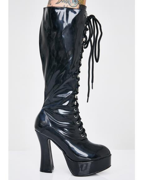 Wicked Beverly Heels Baddie Platform Boots