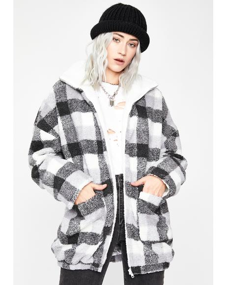Plaid Attitude Sherpa Jacket