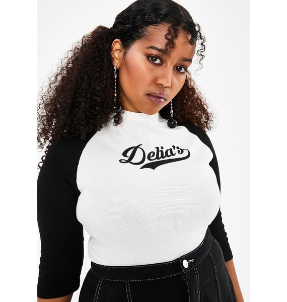 dELiA*s by Dolls Kill Totally The Babe Raglan Tee