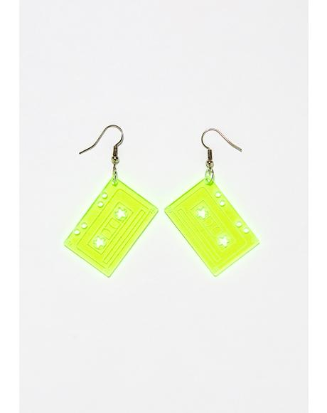 Press Play Cassette Earrings