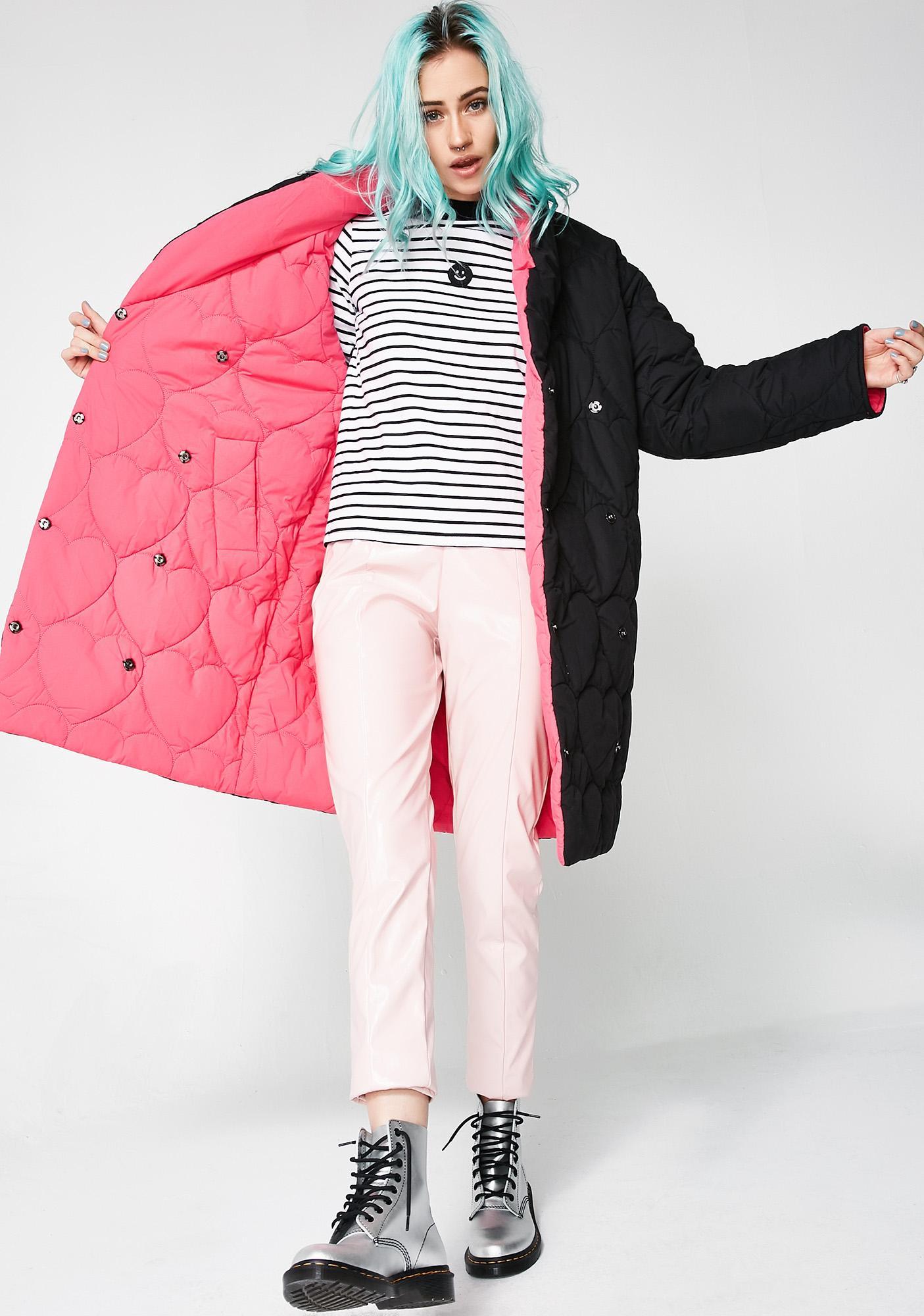 Lazy Oaf Love Blanket Reversible Puffer Coat
