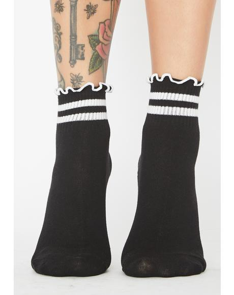 Night Team Cutie Ruffled Socks