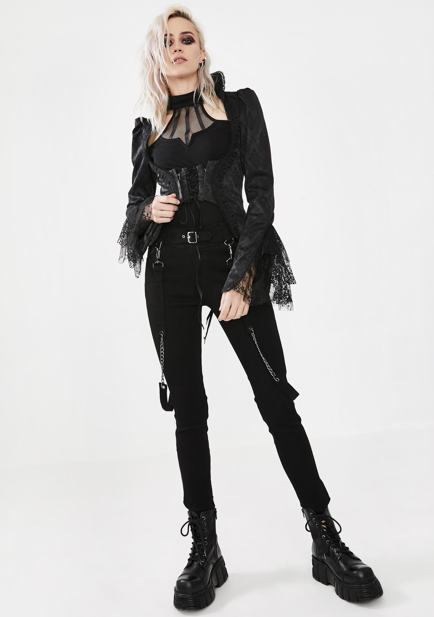Punk Rave The Silence Of The Skeleton Jacquard Jacket