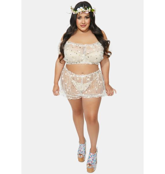Sugar Thrillz Bb Come Away With Me Mesh Bandeau Top