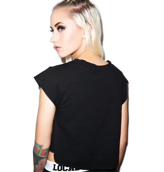 BLQ BASIQ Back To Ba-sikks Crop Tee