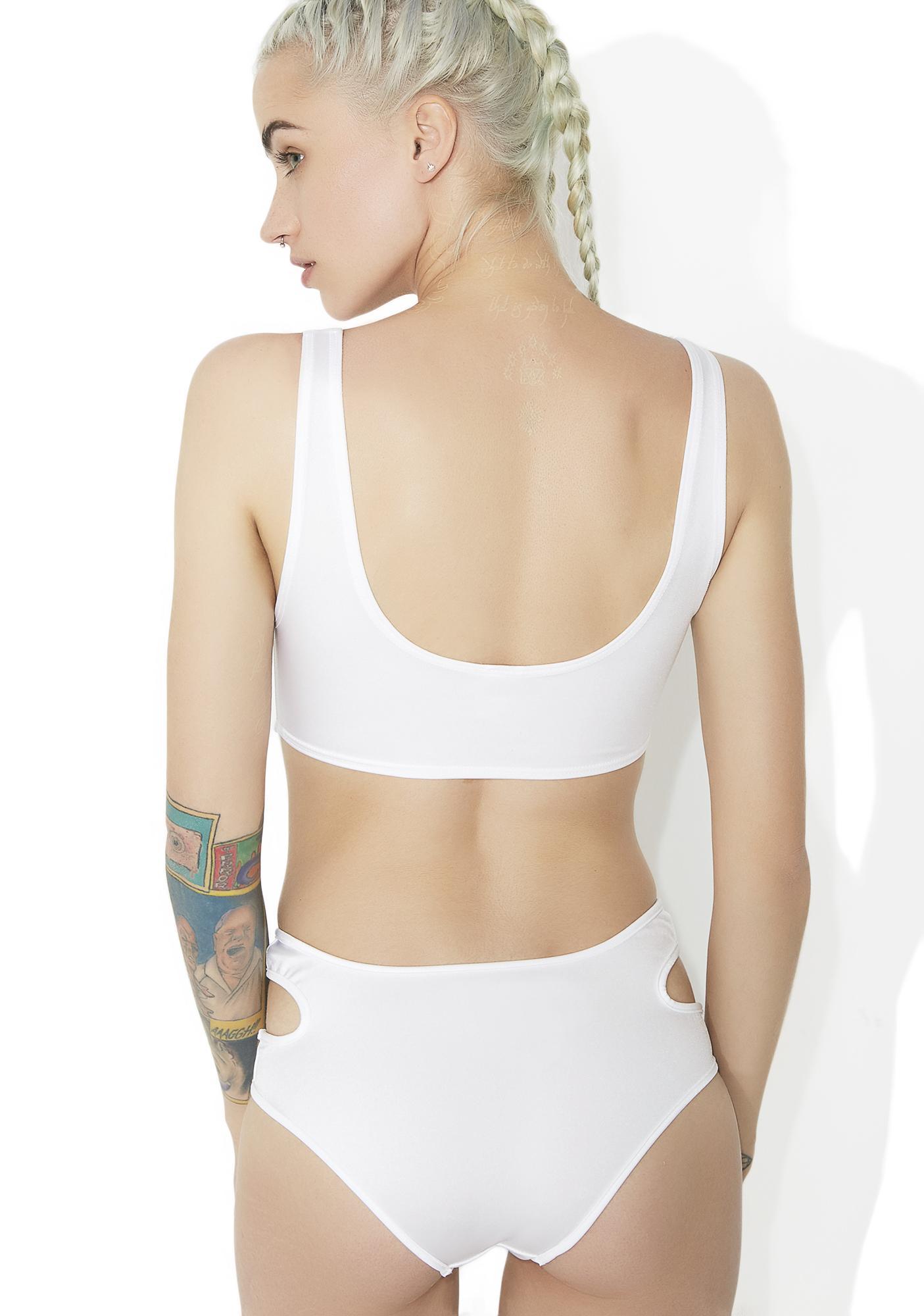 Angelic Suckerpunch Cut-Out Bodysuit