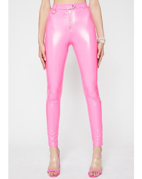 Stay Pampered Vinyl Pants