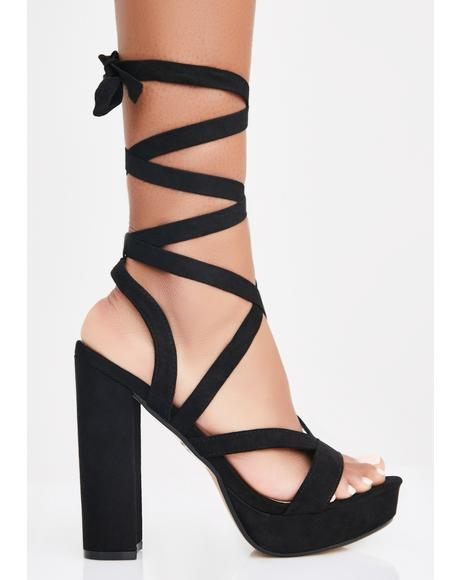 Seductive Serve Wrap Heels