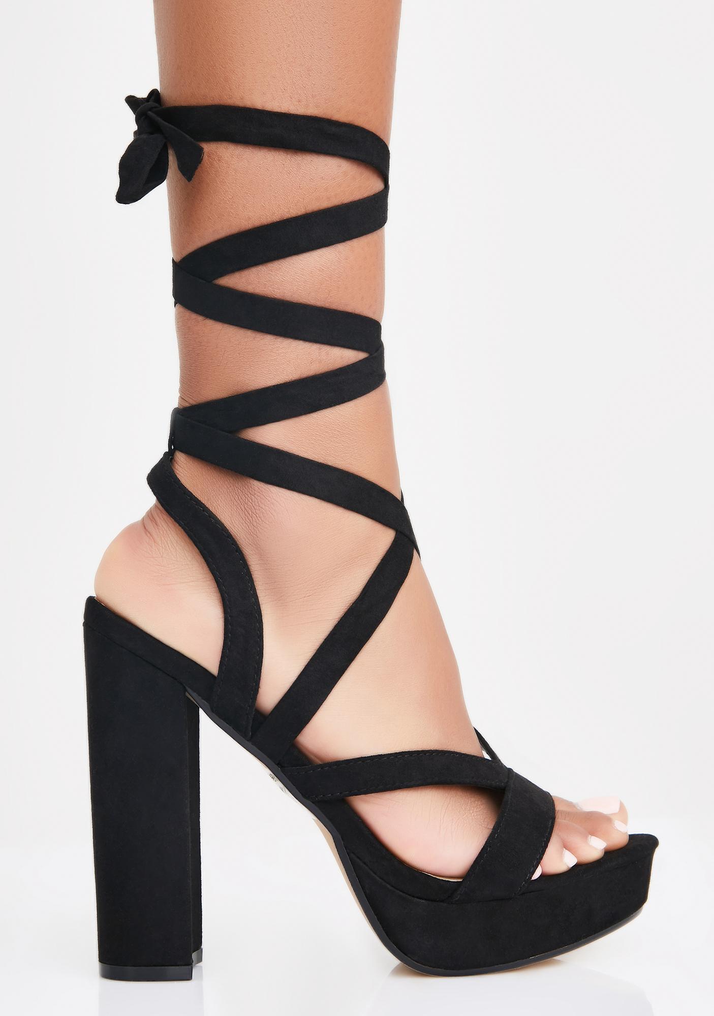 Seductive Serve Wrap Heels