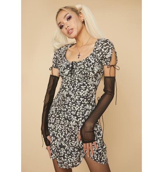 HOROSCOPEZ Carefree Spirit Floral A-Line Dress
