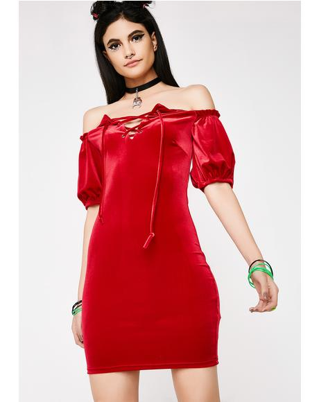 You're Fiyah Velvet Dress