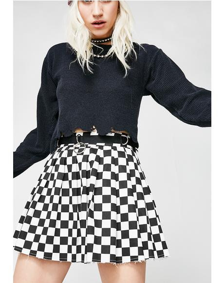 Fast N' Furious Checkered Skirt