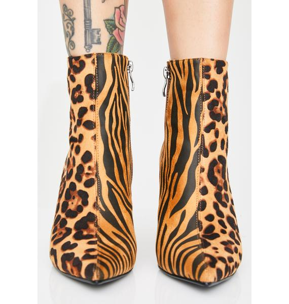 Public Desire Interspecies Animal Print Boots