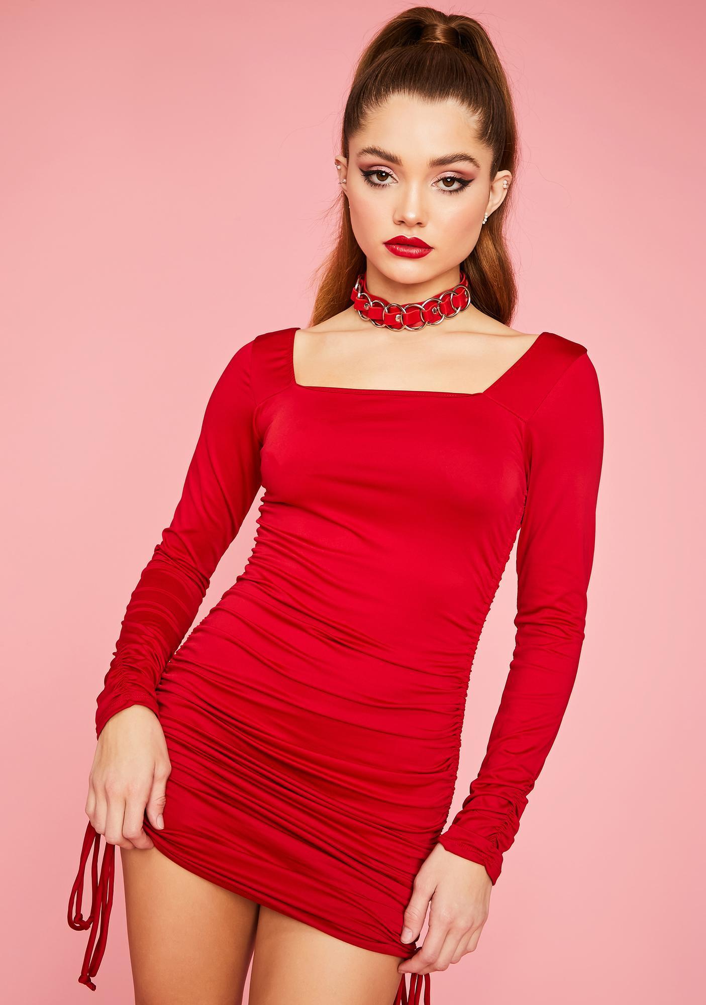 Hot Thru 'N Thru Long Sleeve Mini Dress