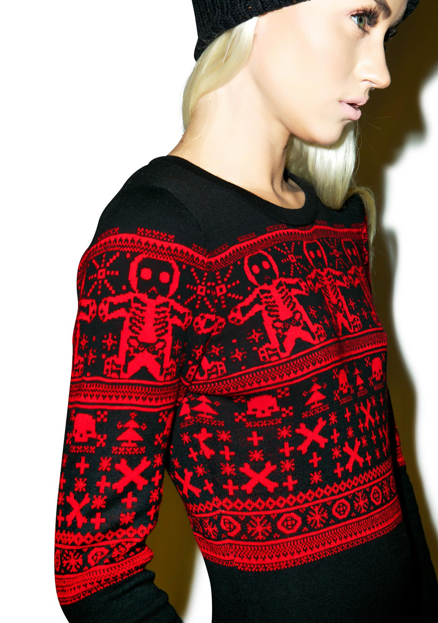 Sourpuss Clothing Gingerbread Sweater Dress