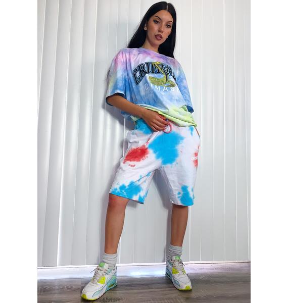 Criminal Damage Fest Tie Dye Lounge Shorts