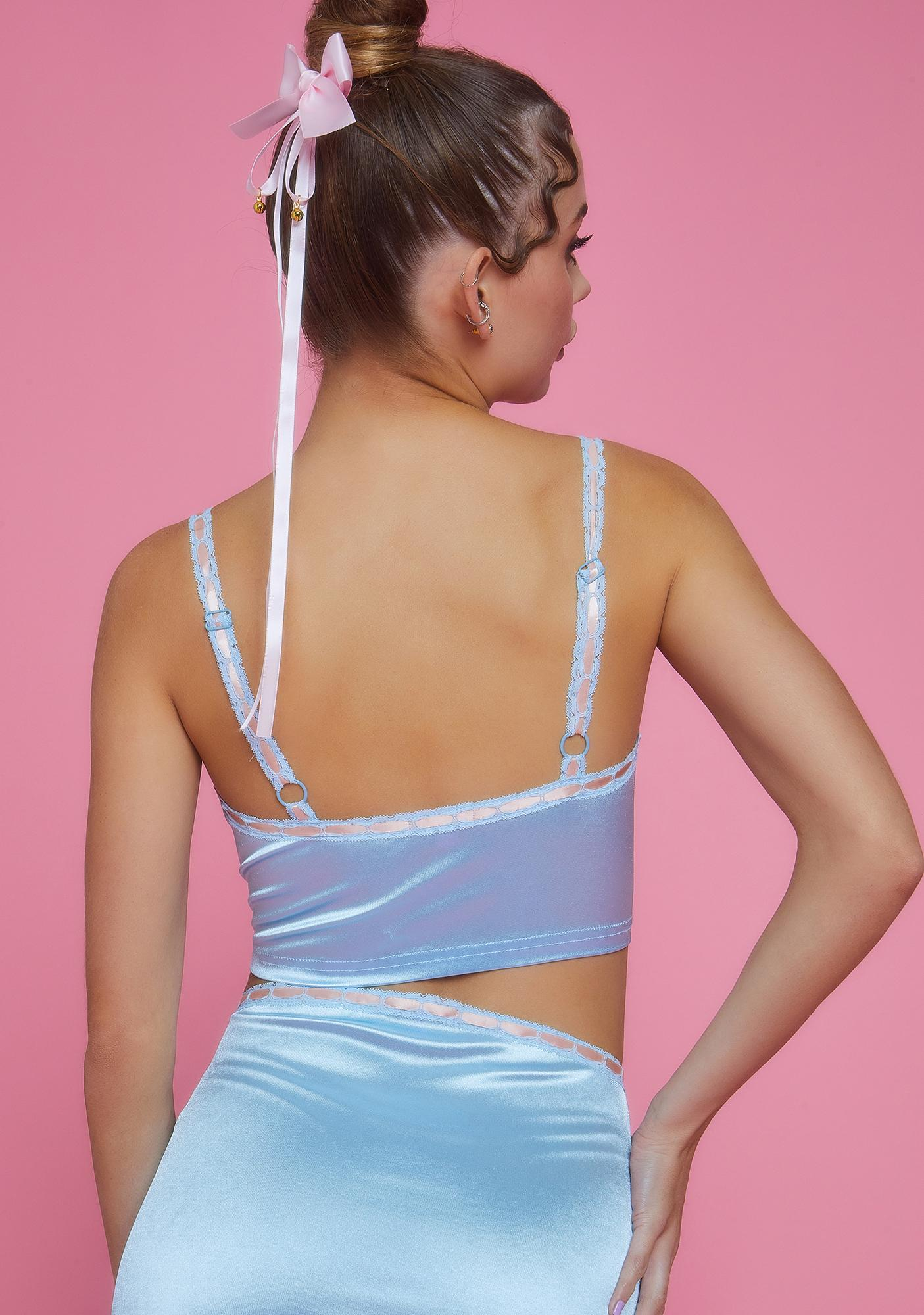 Sugar Thrillz Sweet Silhouette Satin Cami Top